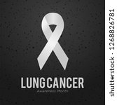 white ribbon. lung cancer...   Shutterstock .eps vector #1268826781