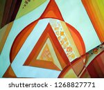 abstract texture. oil  acrylic... | Shutterstock . vector #1268827771