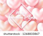 beautiful happy valentine's day ... | Shutterstock .eps vector #1268833867