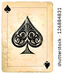 ace of spades. vintage style...