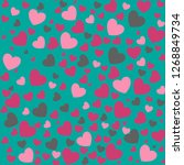 romantic seamless pattern with... | Shutterstock .eps vector #1268849734