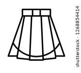 miniskirt vector icon | Shutterstock .eps vector #1268854414