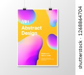 minimal abstract liquid... | Shutterstock .eps vector #1268864704