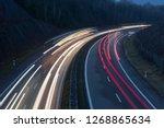 german highway  light trails at ...   Shutterstock . vector #1268865634