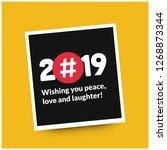 2019 happy new year wishing you ... | Shutterstock .eps vector #1268873344