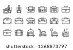 baggage icon set  line design... | Shutterstock .eps vector #1268873797