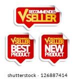 recommended seller speech... | Shutterstock .eps vector #126887414