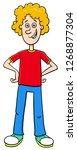 cartoon illustration of... | Shutterstock .eps vector #1268877304