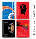set of abstract movie and film...   Shutterstock .eps vector #1268877691