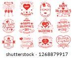 set of happy valentines day... | Shutterstock .eps vector #1268879917