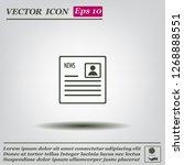 newspaper  press  news vector... | Shutterstock .eps vector #1268888551