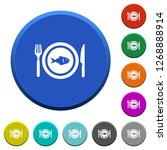 fish for lunch round color... | Shutterstock .eps vector #1268888914