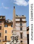 obelisk in pantheon square  ... | Shutterstock . vector #1268892451