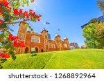 bougainvillea in foreground...   Shutterstock . vector #1268892964