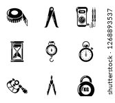 gravity icons set. simple set... | Shutterstock . vector #1268893537