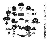 overcast icons set. simple set... | Shutterstock . vector #1268893627