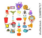 picture theater icons set.... | Shutterstock . vector #1268896717