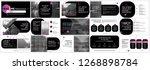 black purple presentation... | Shutterstock .eps vector #1268898784