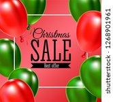 christmas sale banner. vector... | Shutterstock .eps vector #1268901961