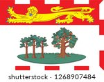 flag of prince edward island... | Shutterstock .eps vector #1268907484