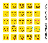 raster copy yellow set of smile ... | Shutterstock . vector #1268918047