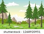 cartoon summer landscape with... | Shutterstock .eps vector #1268920951