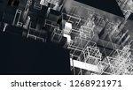 3d render complex abstract... | Shutterstock . vector #1268921971