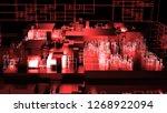 3d render complex abstract... | Shutterstock . vector #1268922094