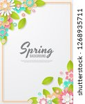 spring background with... | Shutterstock .eps vector #1268935711