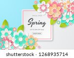 spring sale background with... | Shutterstock .eps vector #1268935714