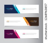 vector abstract web banner... | Shutterstock .eps vector #1268963857
