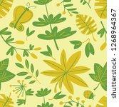cute floral seamless pattern.... | Shutterstock .eps vector #1268964367