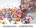 many little beads  perler beads ... | Shutterstock . vector #1268964781