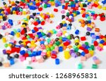 many little beads  perler beads ... | Shutterstock . vector #1268965831