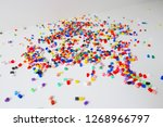 many little beads  perler beads ... | Shutterstock . vector #1268966797