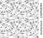 doodle birds seamless pattern... | Shutterstock .eps vector #1268968384