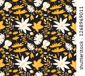cute floral seamless pattern.... | Shutterstock .eps vector #1268969011