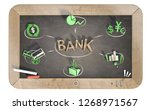 """""""bank"""" word with 3d icons on... 