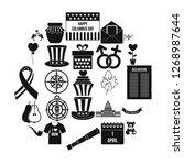 menology icons set. simple set...