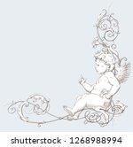 vintage decorative element... | Shutterstock .eps vector #1268988994