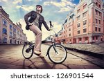 Man On The Vintage Cycle