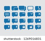 message icon set   Shutterstock .eps vector #1269016831