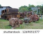 rusty metal old machine in... | Shutterstock . vector #1269051577