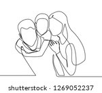 continuous line drawing of... | Shutterstock .eps vector #1269052237