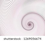 abstract fractal spiral. shell...   Shutterstock . vector #1269056674