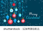 merry christmas toy tree... | Shutterstock . vector #1269081811