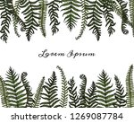 vector card with hand drawn... | Shutterstock .eps vector #1269087784