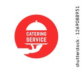 red round catering service logo....   Shutterstock . vector #1269088951
