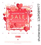 valentines day special offer... | Shutterstock .eps vector #1269089977