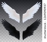 black and white wings | Shutterstock .eps vector #1269090937
